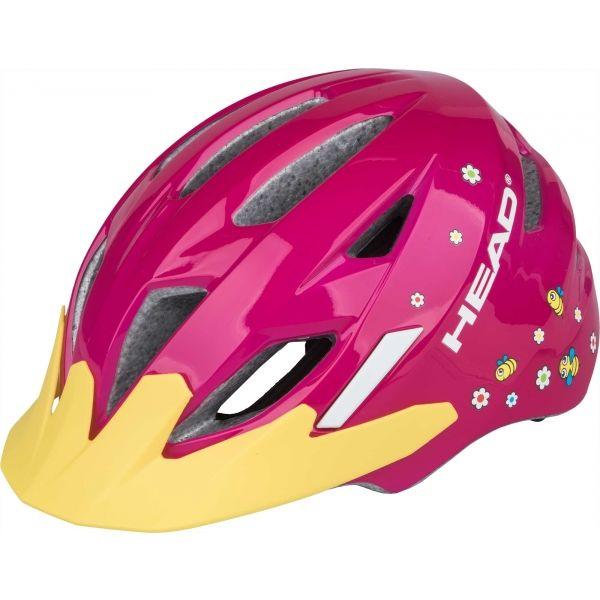 Head KID Y11A rózsaszín (47 - 52) - Gyerek kerékpáros sisak