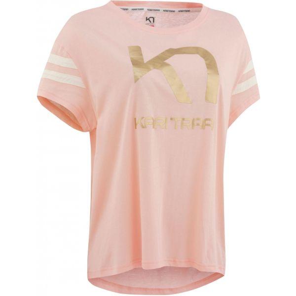 Fotografie KARI TRAA VILDE TEE svetlo ružová Dámske tričko S Kari Traa
