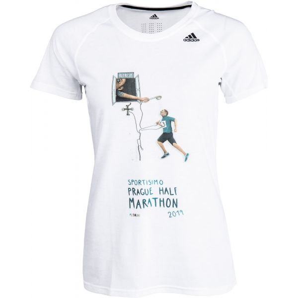 adidas PRIME 2.0 SS T bílá 2XS - Dámské sportovní triko