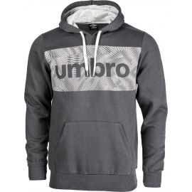 Umbro FLEECE HOODY WITH CHEST GRAPHIC - Pánska mikina
