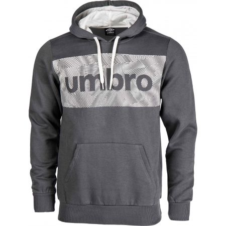 Umbro FLEECE HOODY WITH CHEST GRAPHIC - Férfi pulóver