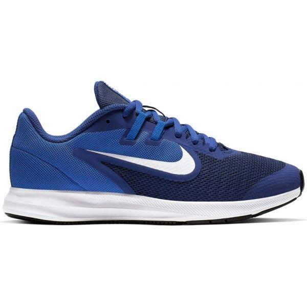 Nike DOWNSHIFTER 9 GS modrá 7Y - Dětská běžecká obuv