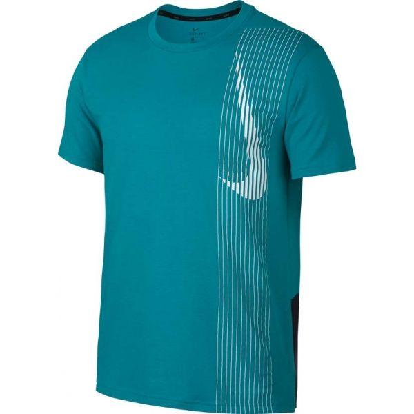 Nike DRY TOP SS LV kék L - Férfi póló