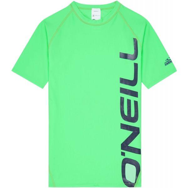 O'Neill PB LOGO SHORT SLEEVE SKINS zielony 8 - Koszulka z filtrem UV chłopięca