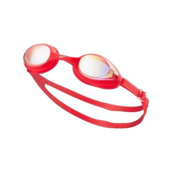 Nike HIGHTIDE MIRROR czerwony NS - Okulary do pływania