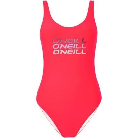 Dámské jednodílné plavky - O'Neill PW LOGO TRIPPLE SWIMSUIT - 1