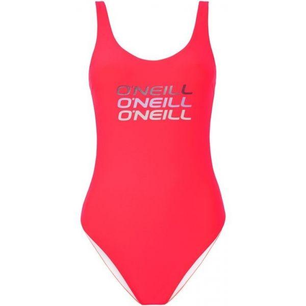O'Neill PW LOGO TRIPPLE SWIMSUIT ružová 42 - Dámske jednodielne plavky