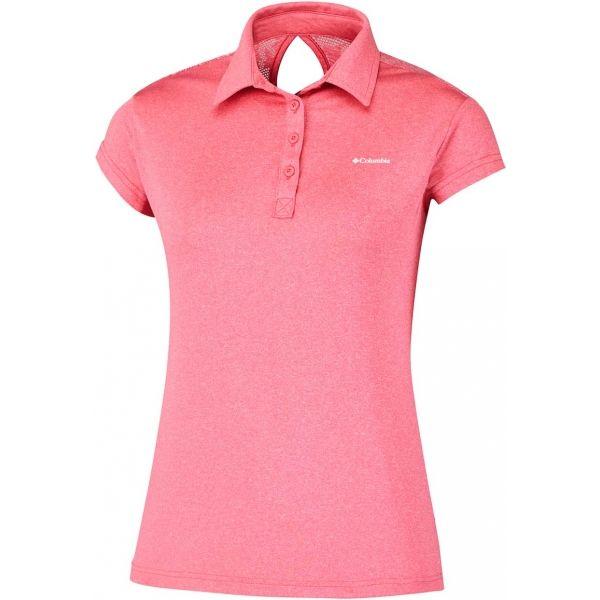 Columbia PEAK TO POINT NOVELTY POLO rózsaszín L - Női póló