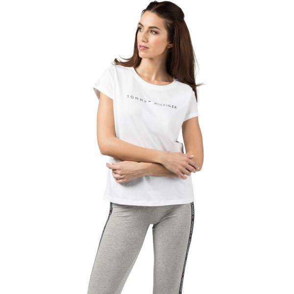 Tommy Hilfiger RN TEE SS LOGO bílá S - Dámské tričko