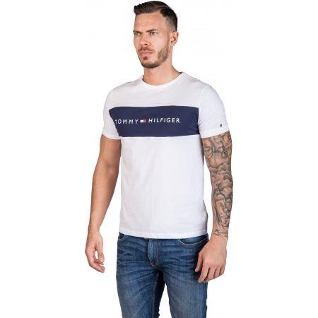 Pánské tričko - Tommy Hilfiger CN SS TEE LOGO FLAG - 2