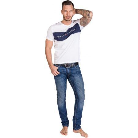 Pánské tričko - Tommy Hilfiger CN SS TEE LOGO FLAG - 4