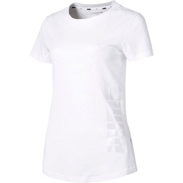 Puma SUMMER GRAPHIC TEE fehér L - Női póló