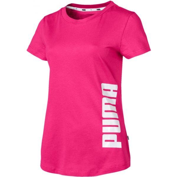 Puma SUMMER GRAPHIC TEE růžová L - Dámské triko