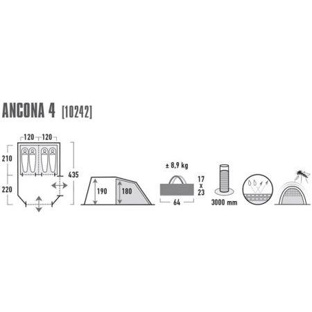 Rodinný stan - High Peak ANCONA 4 - 4