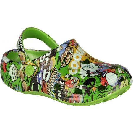 Kids' sandals - Coqui BIG FROG PRINTED - 1