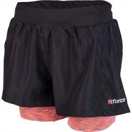 Fitforce 2V1 NOTY - Dámske  fitness šortky