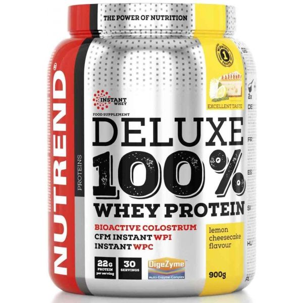 Nutrend DELUXE 100% WHEY 900G CITRONOVÝ CHEESECAKE - Proteín