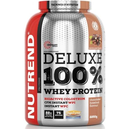 Protein - Nutrend DELUXE 100% WHEY 2250G ČOKOLÁDA + LÍSKOVÝ OŘECH