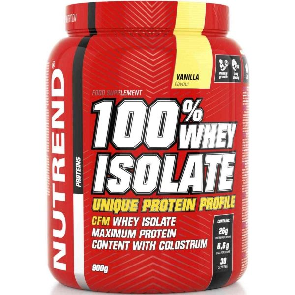 Nutrend 100% WHEY ISOLATE 900 G VANILKA - Proteín