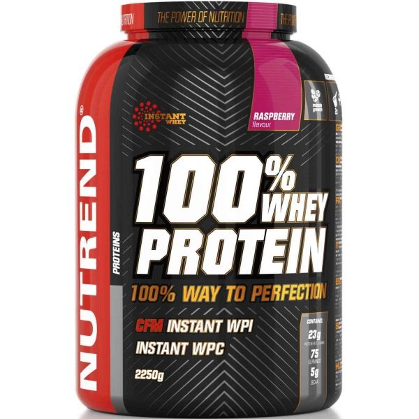 Nutrend 100% WHEY PROTEIN 2250G MALINA - Proteín