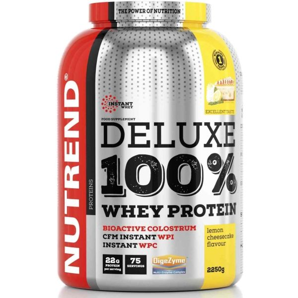 Nutrend DELUXE 100% WHEY 2250G CITRONOVÝ CHEESECAKE - Proteín