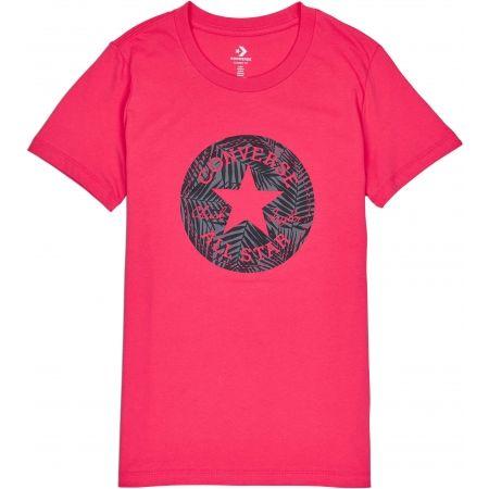 Converse SEASONAL CHUCK PATCH PALM FILL TEE - Dámske tričko