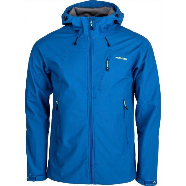 Head SAXON modrá L - Pánská softshellová bunda