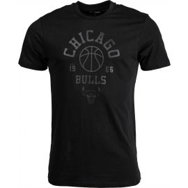 New Era NBA TONAL BASKETBALL TEE CHICAGO BULLS BLK - Pánské triko