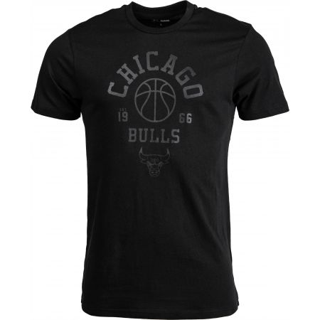 Pánské triko - New Era NBA TONAL BASKETBALL TEE CHICAGO BULLS BLK - 1