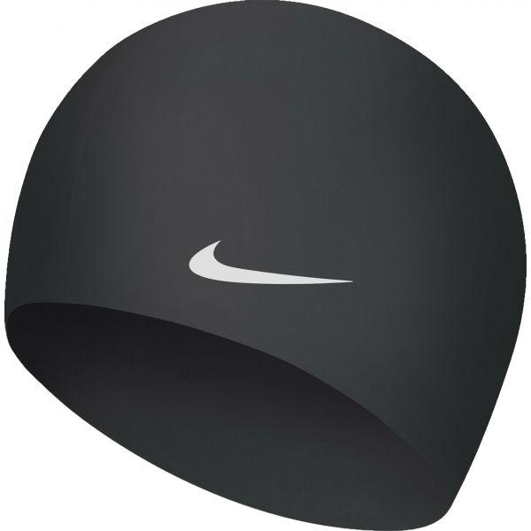 Nike SOLID SILICONE biały NS - Czepek pływacki