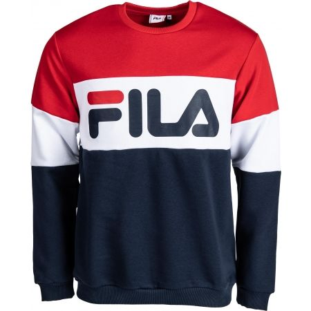 Fila STRAIGHT BLOCKED CREW SWEAT - Bluza męska