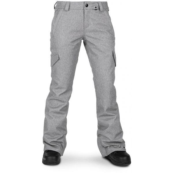 Volcom BRIDGER INS PANT sivá S - Dámske nohavice