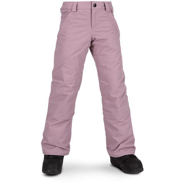Volcom FROCHICKIDEE INS PNT ružová L - Dievčenské lyžiarske/snowboardové nohavice