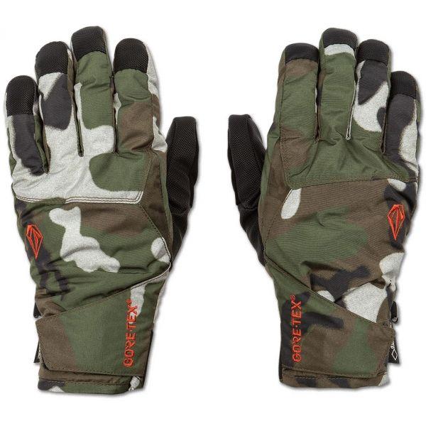Volcom CP2 GORE-TEX GLOVE tmavo zelená L - Pánske rukavice