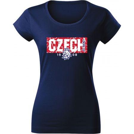 Střída NÁPIS CZECH V PATTERNU - Dámske tričko