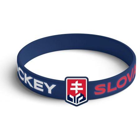 Střída SILIKONOVY NARAMOK VYSTOUPLE LOGO SLOVAKIA HOCKEY - Szilikon karkötő