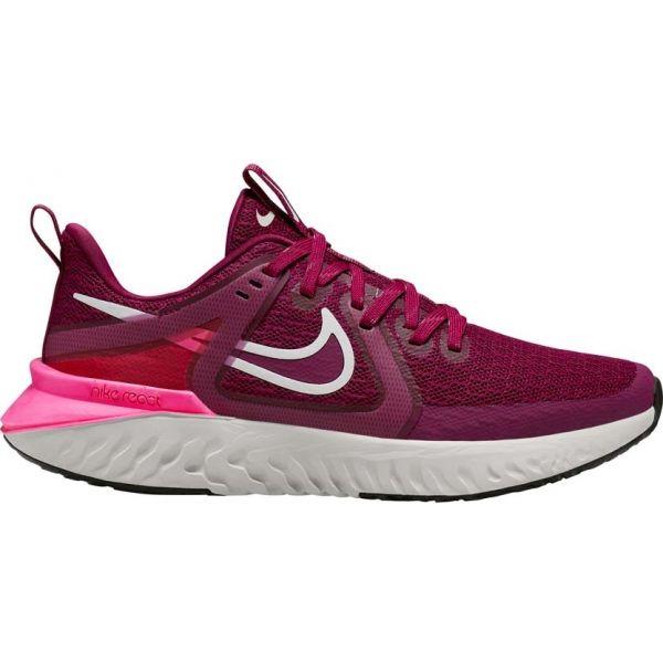 Nike LEGEND REACT 2 W vínová 6.5 - Dámská běžecká obuv