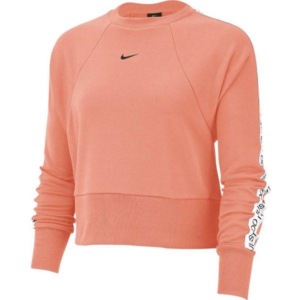 Nike DRY GET FIT FLC CRW JDI T oranžová XL - Dámská mikina