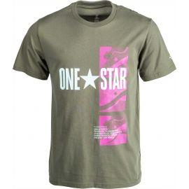 Converse ONE STAR PHOTO SHORT SLEEVE TEE - Pánske tričko