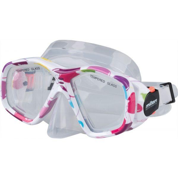 Miton BALI biały NS - Maska do nurkowania juniorska