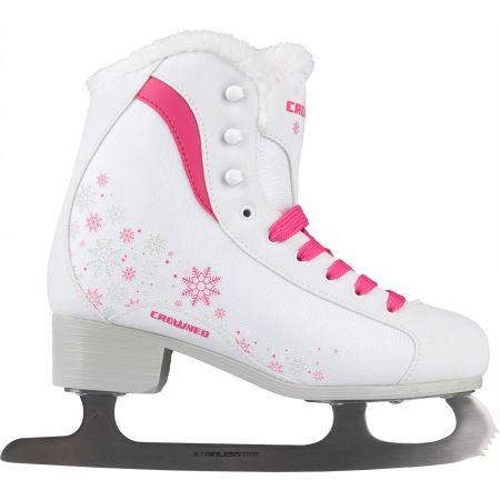 Dievčenské fashion korčule na ľad - Crowned GLAMOUR JR - 2