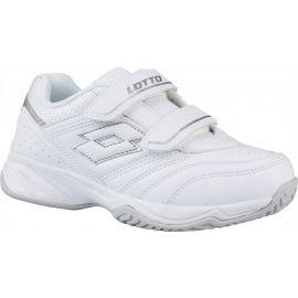 Lotto COURT LOGO JR VELCRO - Dětská tenisová obuv