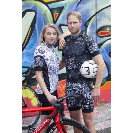 Men's cycling bib shorts - Rosti PEACE AND LOVE - 4