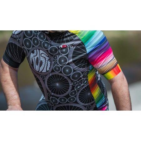 Pánsky cyklistický dres - Rosti WHEELS DL ZIP - 5