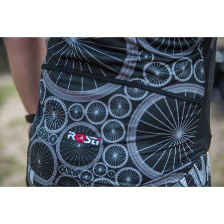 Pánský cyklistický dres - Rosti WHEELS DL ZIP - 6