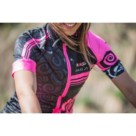 Dámský cyklistický dres - Rosti FURY LADY DL ZIP - 4