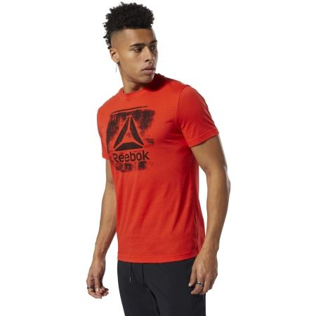 Pánske tričko - Reebok GS STAMPED LOGO CREW - 4
