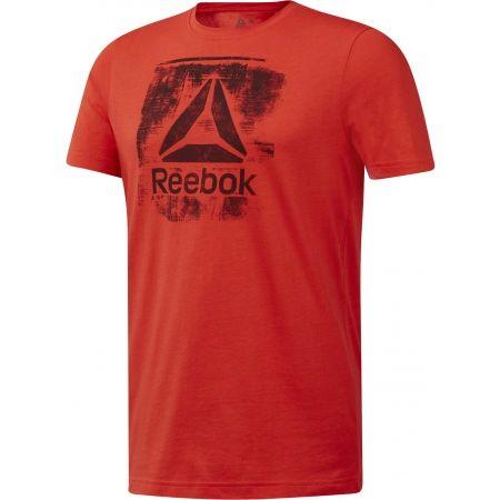 Pánske tričko - Reebok GS STAMPED LOGO CREW - 1