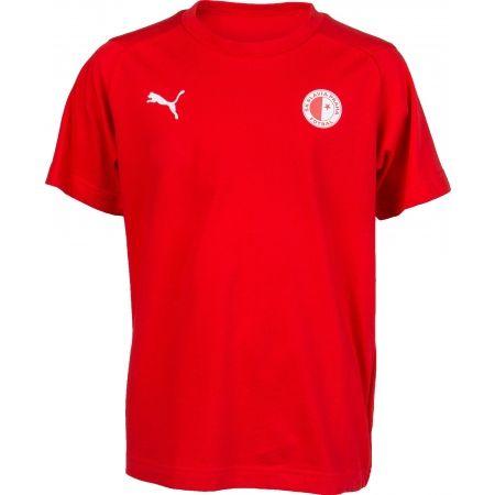 Puma LIGA CASUALS TEE JR SLAVIA - Dětské sportovní triko