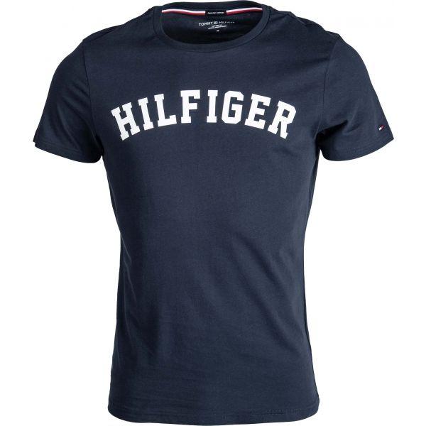 Tommy Hilfiger SS TEE LOGO tmavě modrá XL - Pánské tričko